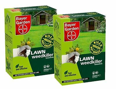 Pack of 2 Bayer Garden Lawn Weedkiller Concentrate 250ml