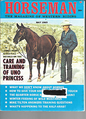 Horseman The Magazine  Of Western Riding May 1969 Equine Data & Stories