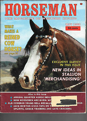Horseman The Magazine  Of Western Riding May 1968 Equine Data & Stories