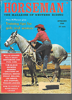 Horseman The Magazine  Of Western Riding September 1968 Equine Data & Stories