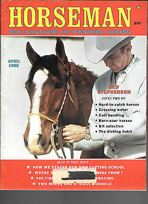 Horseman The Magazine  Of Western Riding April 1968 Equine Data & Stories