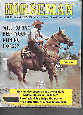 Horseman The Magazine  Of Western Riding October 1968 Equine Data & Stories