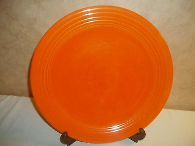 Vintage Heavy Unsigned Fiesta Cake or Chop Plate Platter 12 3/8 inch Round