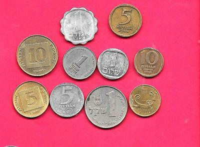 Israel Israeli  10 Diff Different Coin Lot Collection Set Inc Old & Large
