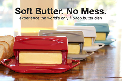 Butterie Flip Top Butter Dish For Countertop or Refrigerator, BPA Free, 5 Colors