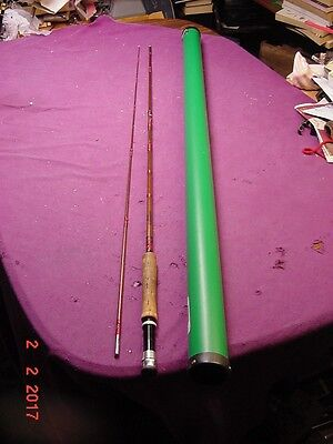 Vintage Herter's RB8FP Fiberglass Fly Fishing Rod 8 ft  with LL Bean Rod Case