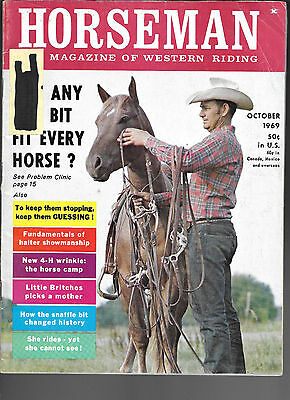 Horseman The Magazine  Of Western Riding October 1969 Equine Data & Stories