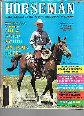 Horseman The Magazine  Of Western Riding January 1970 Equine Data & Stories