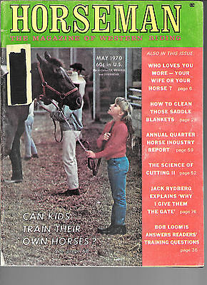 Horseman The Magazine Of Western Riding May 1970 Equine Data & Stories