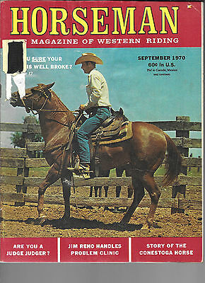 Horseman The Magazine Of Western Riding September 1970 Equine Data & Stories