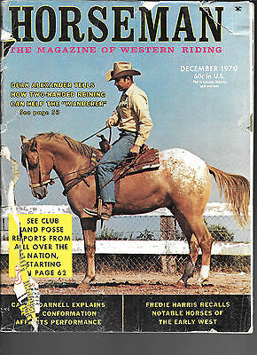 Horseman The Magazine  Of Western Riding December 1970 Equine Data & Stories