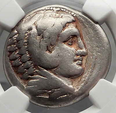 ALEXANDER III the GREAT 323BC Macedonia Silver Tetradrachm Greek Coin NGC i59836