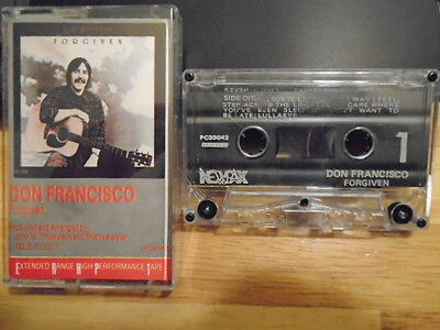 RARE OOP Don Francisco CASSETTE TAPE christian folk Forgiven BUDDY SPICHER 1977