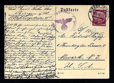 14932-GERMAN EMPIRE-Third Reich.CENSOR postcard BINGEN.1940.WWII.DEUTSCHES REICH