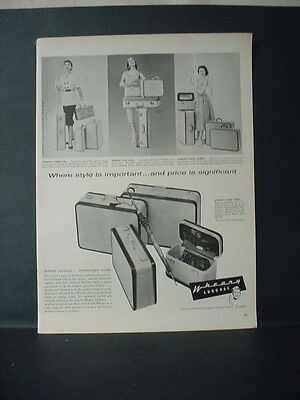 1955 Wheary Hartmann Luggage Suitcases for Women Vintage Print Ad 11410