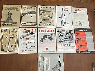 Vintage Print Ad - Strum Ruger Ad Lot - 1960's Advertising - Smalls