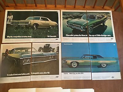 Vintage Print Ad - 1969 Chevrolet Ad Lot - 1960's Advertising - Large
