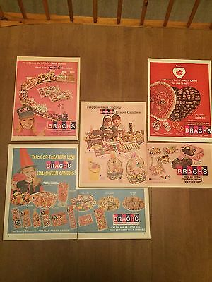 Vintage Print Ad - 1966 Brach's Candy Ad Lot - 1960's Advertising - Large
