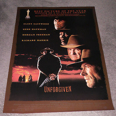 UNFORGIVEN original 27x41 ROLLED 1992 one sheet movie poster CLINT EASTWOOD