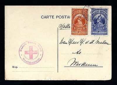 14985-ETHIOPIA-OLD POSTCARD ADDIS ABABA to HOLLAND.1932.WWII.RED CROSS.ABYSSINIE