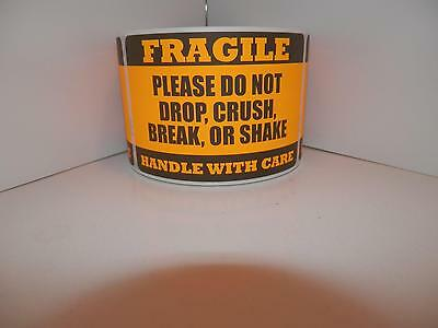 FRAGILE HANDLE/CARE DO NOT DROP CRUSH BREAK SHAKE fluor orange 2x3 label 250/rl
