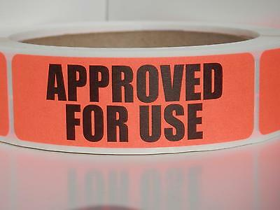 APPROVED FOR USE sticker label production manufacturing Red Fluor 250/rl
