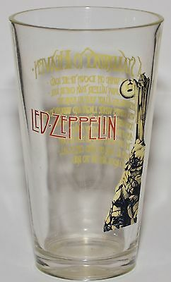 "LED ZEPPELIN Very Rare 6"" Collectible Drinking Glass ""A STAIRWAY TO HEAVEN"" RARE"