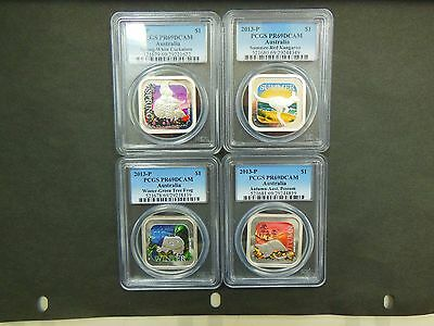 2013P Australia Four Seasons Proof Set-4 Coins All PCGS-PR69DCAM!
