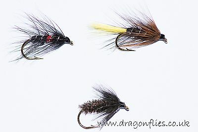 Fly Fishing Wet Fly 16 Classic Patterns Assorted Fishing Flies by Dragonflies
