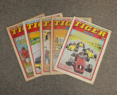 TIGER & SCORCHER COMICS x 5  -1980  - (G3642G)