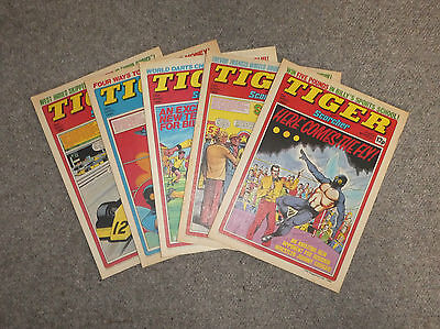 TIGER & SCORCHER COMICS x 5  -1980  - (G3642D)