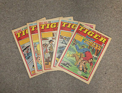 TIGER & SCORCHER COMICS x 5  -1980  - (G3642B)