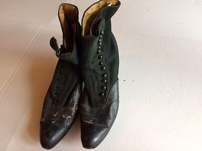 Antique Ladies Vintage High top Button Shoes or Boots with Heels