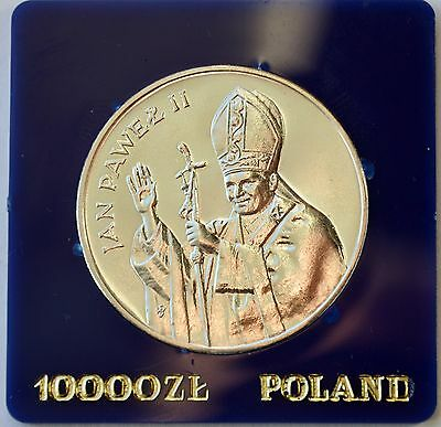 10000 Zlotych 1987 Pope John Paul II Silver Coin Poland Excellent condition