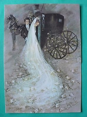 Vintage Wedding Gordon Fraser Big Greeting Card With Envelope England Very Nice