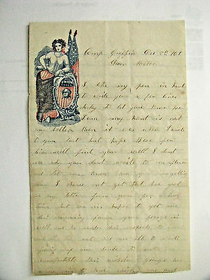 Civil War Vermont Brothers Letter Camp Griffin Virginia