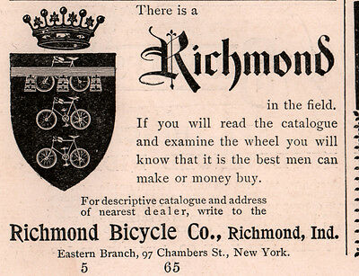 1896 A  Ad  Richmond Bicycle Co