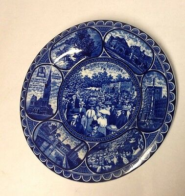 Allentown, Pa Blue Staffordshire Plate