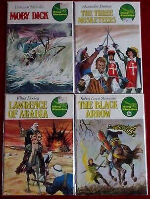 KING CLASSICS #3,16,19,24 Moby Dick! 3 Musketeers! Lawrence of Arabia! 1977