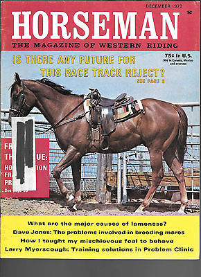 Horseman The Magazine Of Western Riding December 1972 Equine Data & Stories