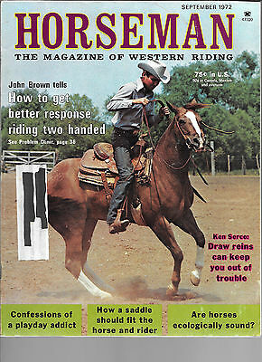 Horseman The Magazine  Of Western Riding September 1972 Equine Data & Stories