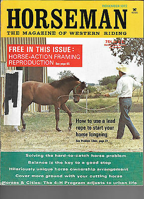 Horseman The Magazine  Of Western Riding November 1972 Equine Data & Stories