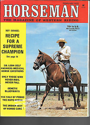 Horseman The Magazine  Of Western Riding February 1972 Equine Data & Stories