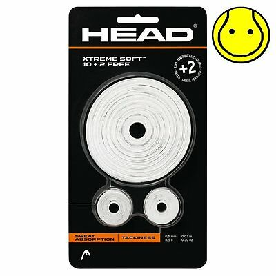WHITE Head XtremeSoft 12 pack Tennis Overgrip - 10+2