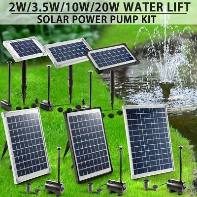 Outdoor Solar Power Fountain Water Pump Kit Garden Pond Pool Submersible