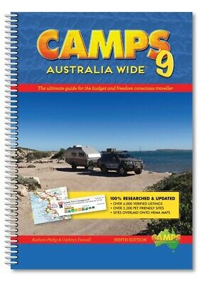 2017 Camps 9 Australia Wide New Book Caravan Guide Camping Accessories RV