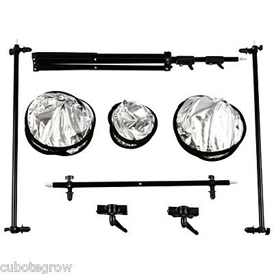 Collapsible Multi-Disc Photo Studio Panel Reflector Kit Light Stand+Carrying Bag