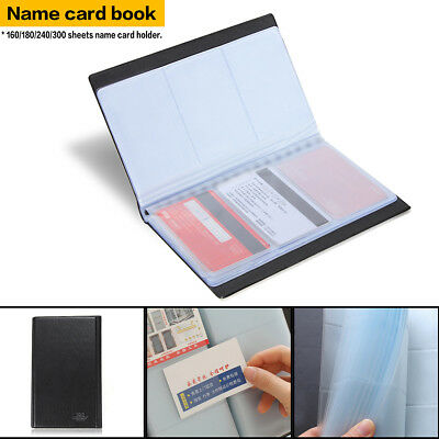 300 Slot Business Name Credit ID Card Holder Book Case Organizer Wallet Cover US