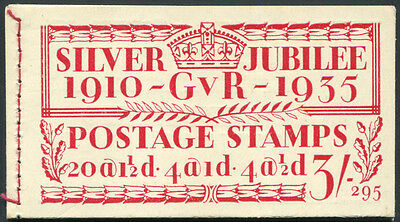 1935 Silver Jubilee 3s stamp booklet (Edition 295) with inverted panes. . . .