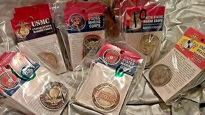 Challenger Coins Wholesale Lot USMC Variety Pack of styles and metals FREE SHIP